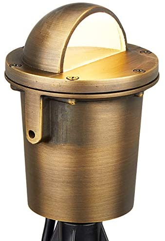 VOLT Cold Forged Brass 12V in-Grade Light (Beacon Top) with LED Bulb