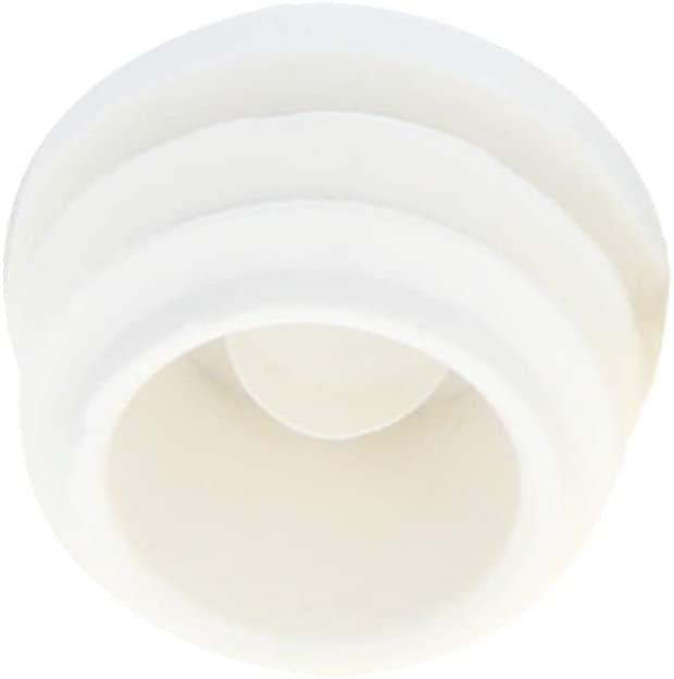 MroMax 10Pcs Plastic Plug 22mm End Caps Tube Inserts Round Furniture Table Chair Legs Floor White