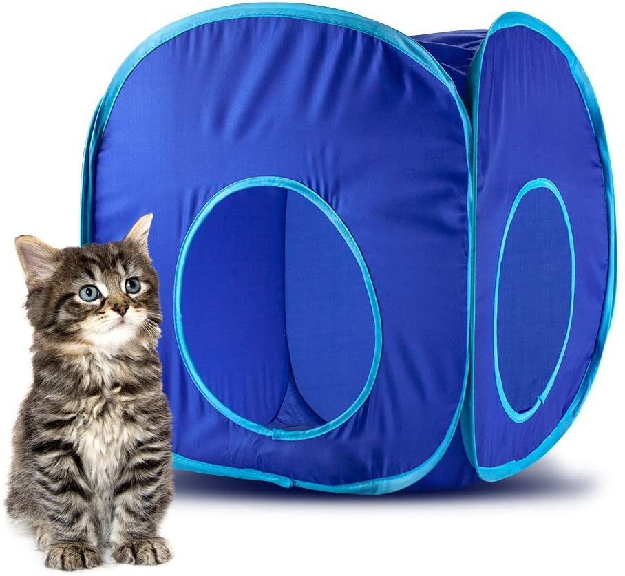 Weebo Pets Pop-Up Cat Play Cube with Storage Bag