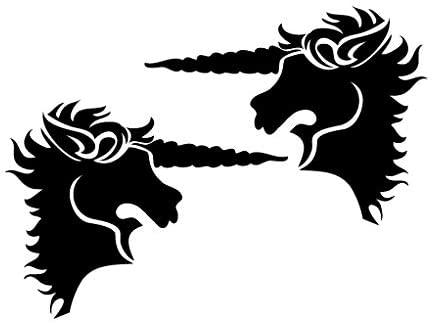 Leon Online Box Unicorn Royal Blood Logo Mirror - Tribal Decal [12cm Black] Vinyl Sticker for Car, Bike, iPad, Laptop, MacBook, Helmet