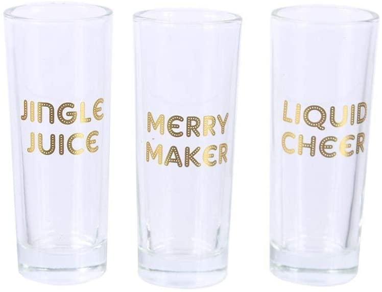 DEI Holiday Cheer Shot Glasses Set of 3