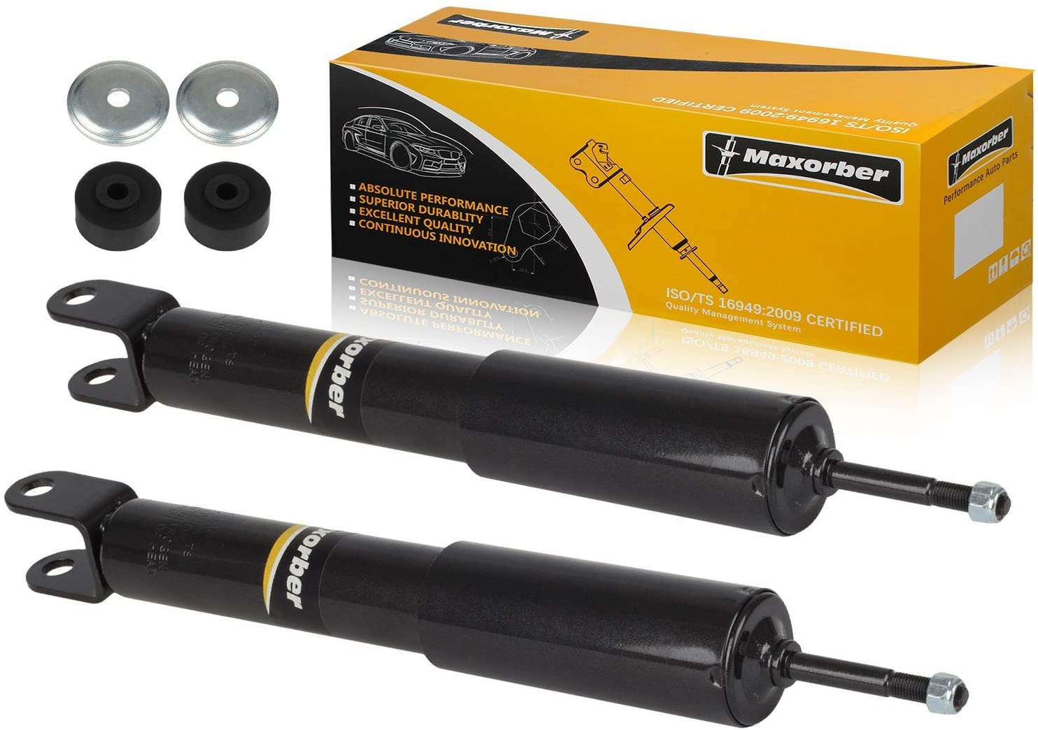Maxorber Front Set Shock Absorber Strut Compatible with Silverado 1500 4WD 1999-2006 Replacement for Sierra 1500 4WD 1999-2006 Shock Absorber 344381