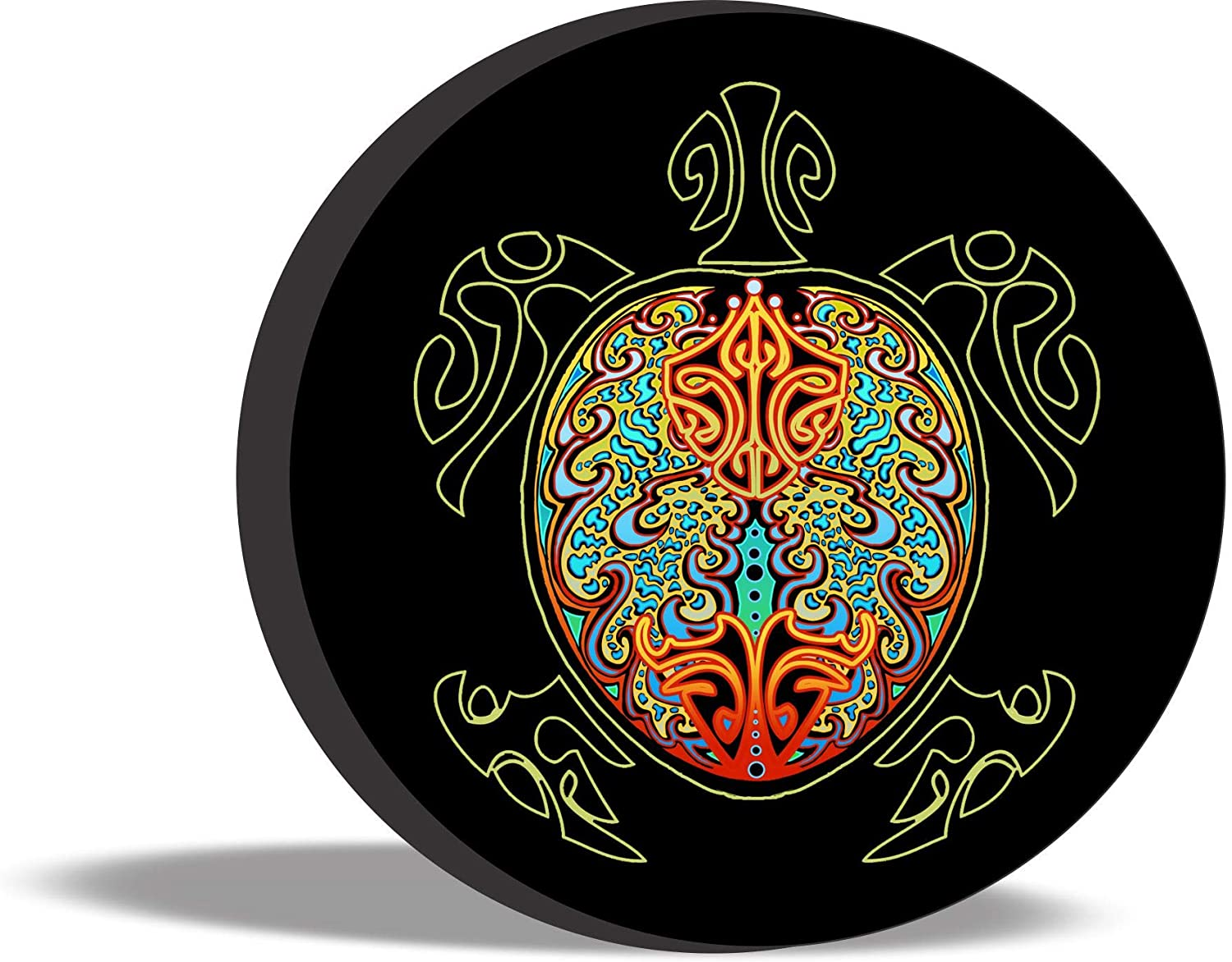 TIRE COVER CENTRAL Turtle Peace Tribal Rasta Earth Sea Spare Tire Cover (Select tire Size/Back up Camera Option in MENU) Custom Sized to Any Make/modelfor 255/75R17
