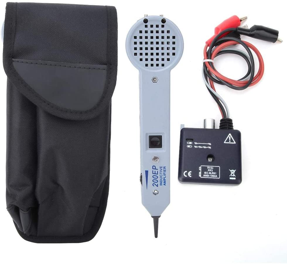 High Accuracy Cable Tester, 200EP Cable Tester Tone Generator Inductive Amplifier with Adjustable Volume