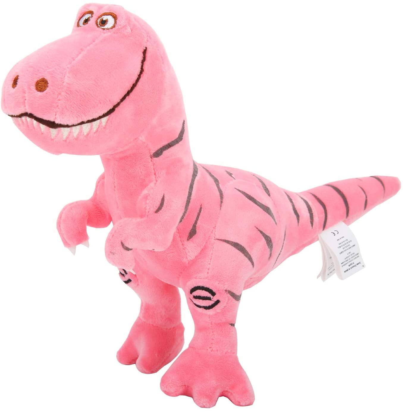 Zooawa Bed Time Stuffed Animal Toys, Cute Soft Plush T-Rex Tyrannosaurus Dinosaur Figure - Pink