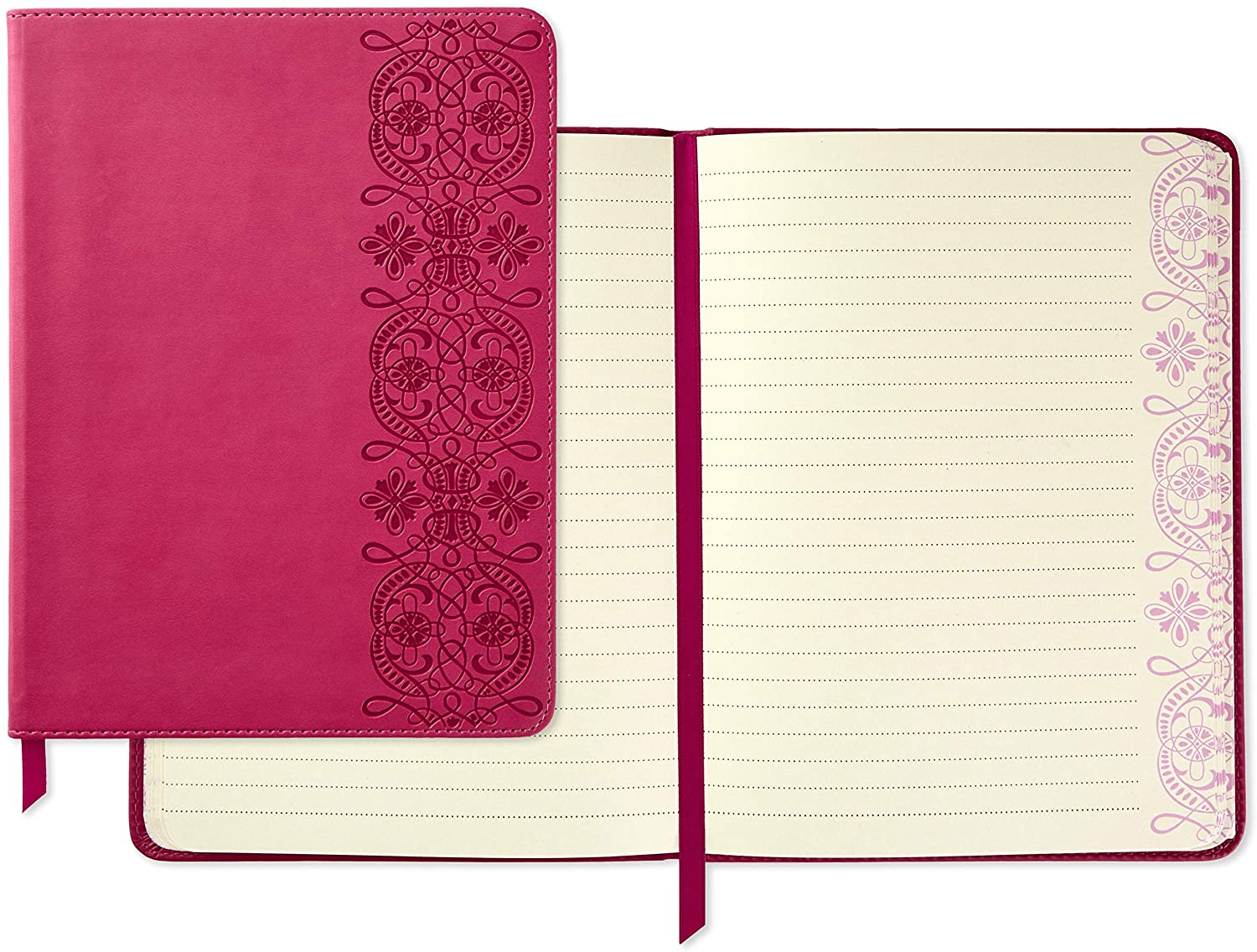 Hallmark Softcover Journal with Lined Pages (Pink Scrollwork)