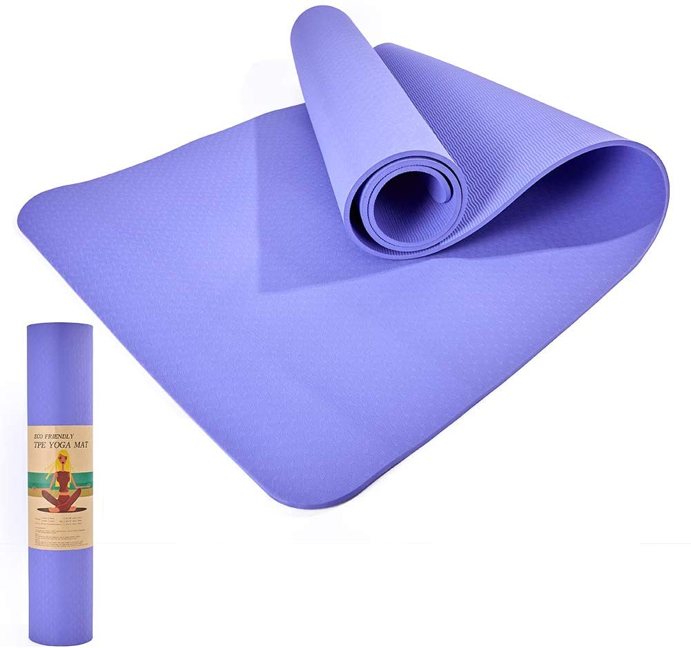 With a bud Yoga Mat Non Slip,Exercise mat Workout mats Workout Yoga Mat Non Slip,Exercise mat Workout mats Workout mats for Home,Yoga Mat Carrier Strap (72