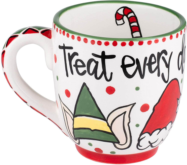 Glory Haus Treat Every Day like Christmas Jumbo Mug 16 oz