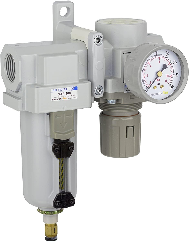 PneumaticPlus SAU420-N06DG-MEP Compressed Air Filter Regulator Combo 3/4