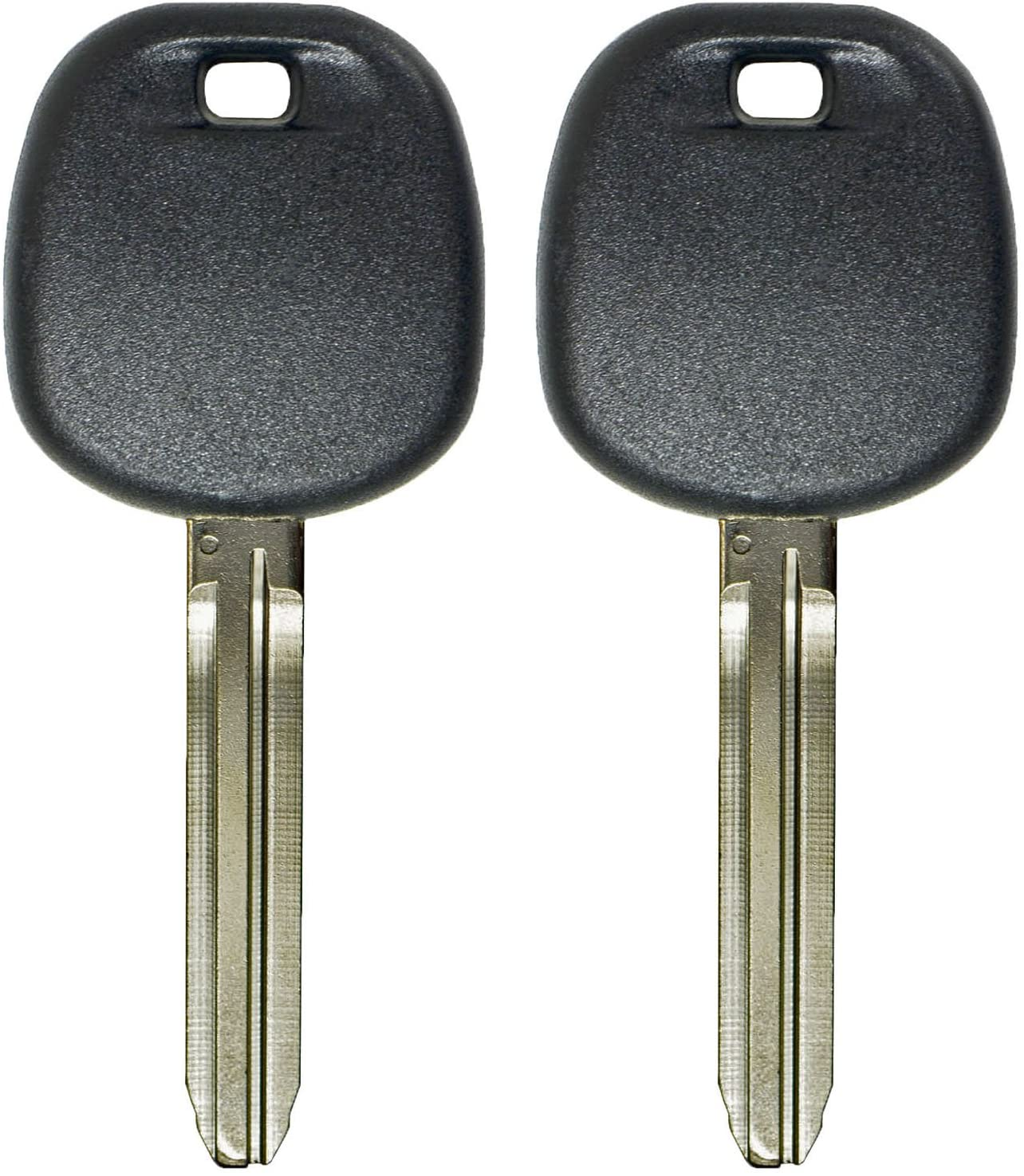 qualitykeylessplus Two Replacement Transponder Chip Keys TOY44DPT for Toyota Vehicles with Free KEYTAG