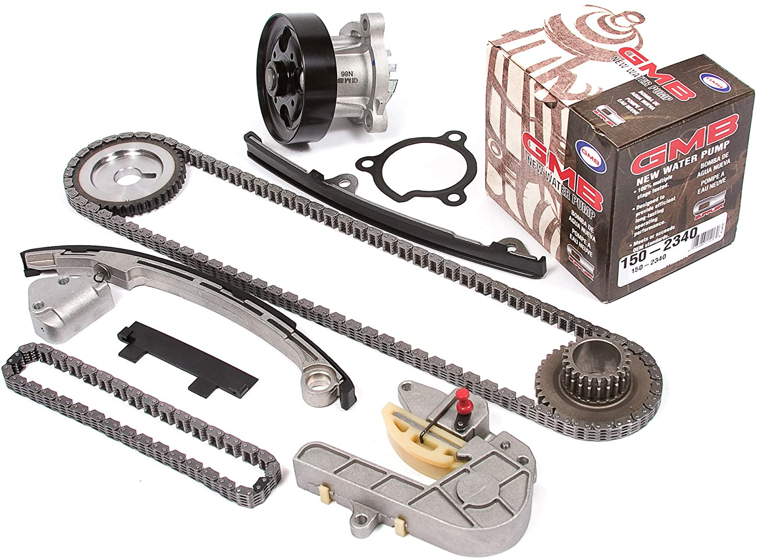 Evergreen TK3032WP Compatible With Nissan QR25DE Timing Chain Kit, and GMB Water Pump