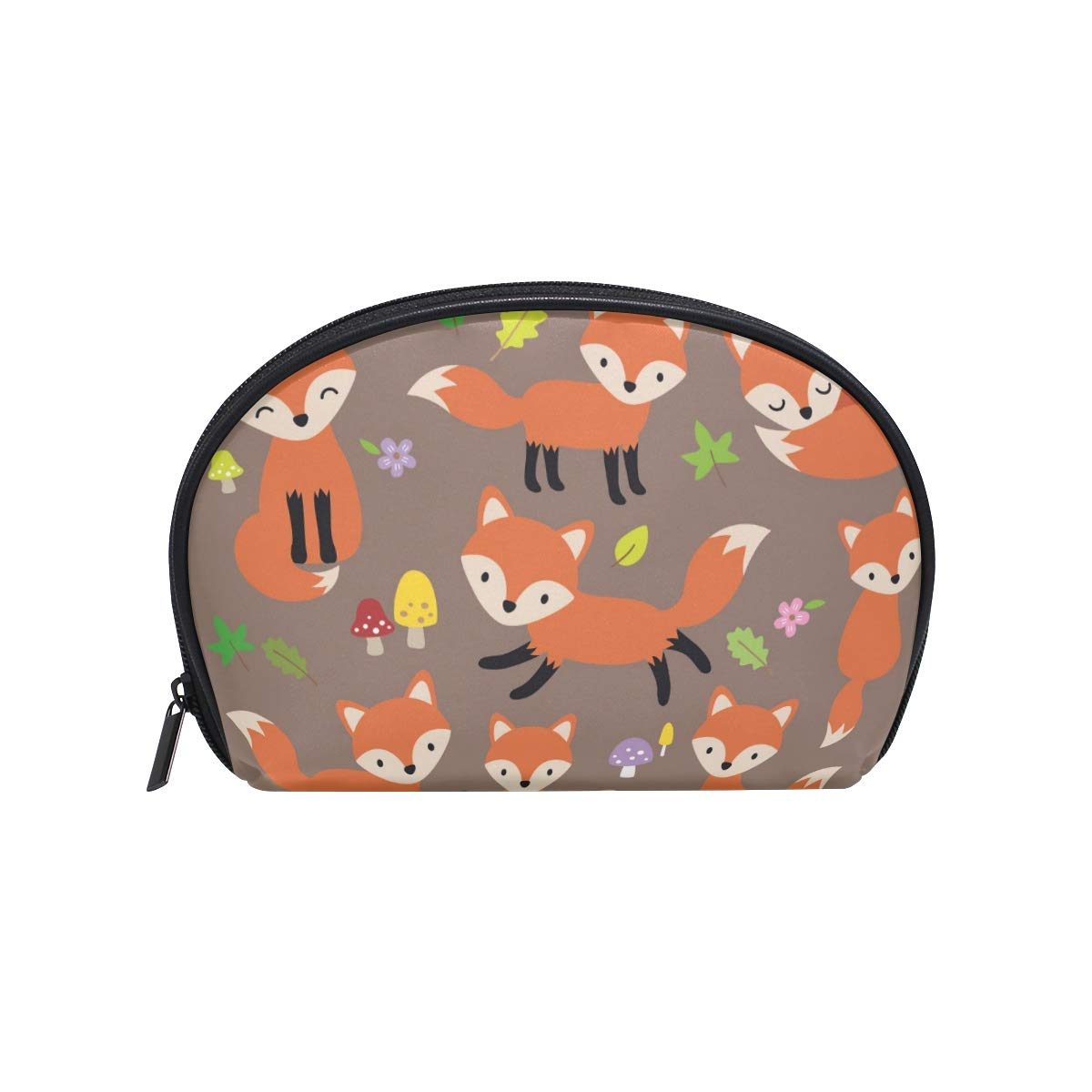 Portable Travel Makeup Bag Cosmetic Bag Orange Fox Toiletry Bag Organizer Accessories Case, Tools Case for Women