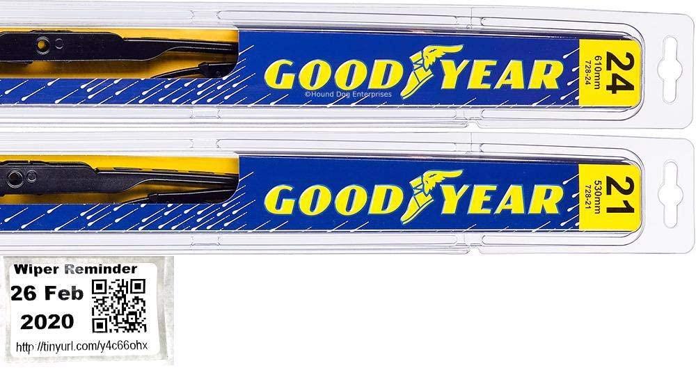 Windshield Wiper Blade Set/Kit/Bundle for 1999-2004 Honda Odyssey - Driver & Passenger Blades & Reminder Sticker (Premium)