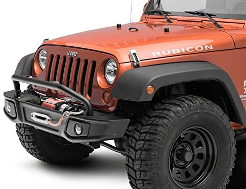 Barricade Cruiser HD Front Bumper with Over Rider and LED Fog Lights for Jeep Wrangler JK 2007-2018