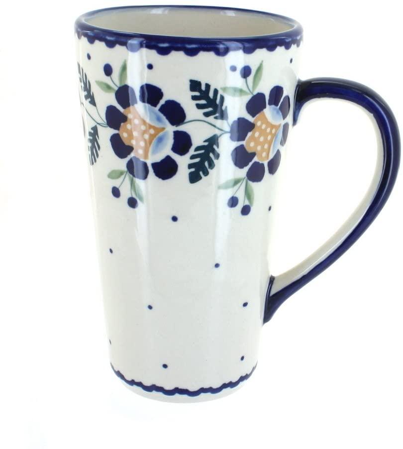 Blue Rose Polish Pottery Sunflower Large Coffee Mug