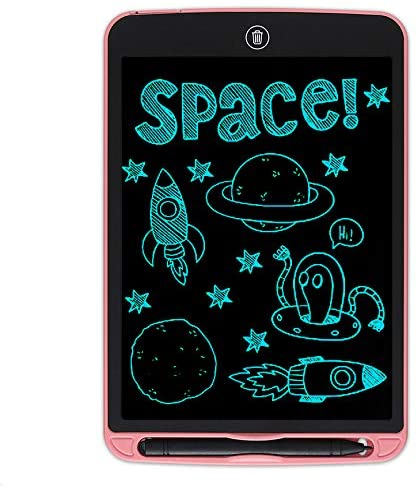 HUADEYI LCD Writing Tablet Doodle Board Electronic Digital Drawing pad, Small Blackboard Paperless with Pen,Toys Gifts for Kids Adults Home School Office[Pink,12 Inch]