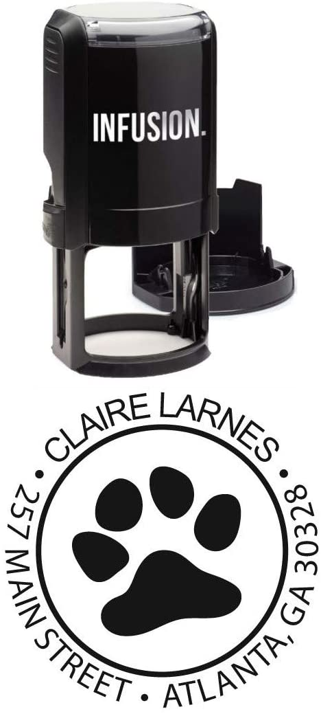 Infusion Personalized Dog Paw Stamp - 1-5/8