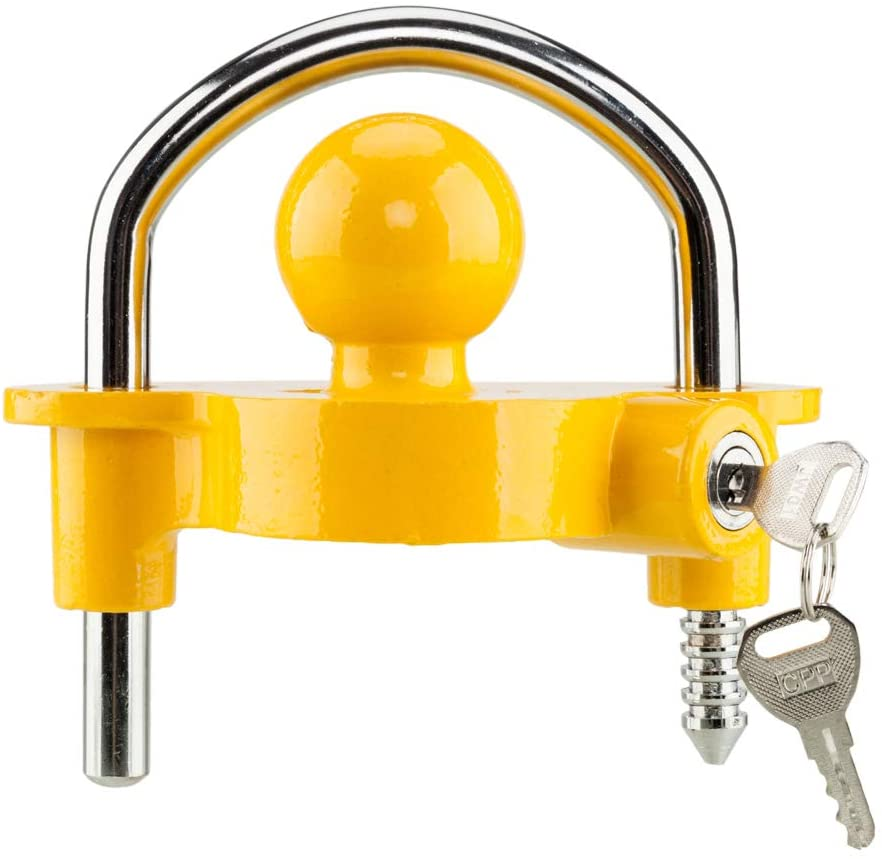 TRIBLE SIX Universal Trailer Hitch Lock with 2 Keys Fits 2