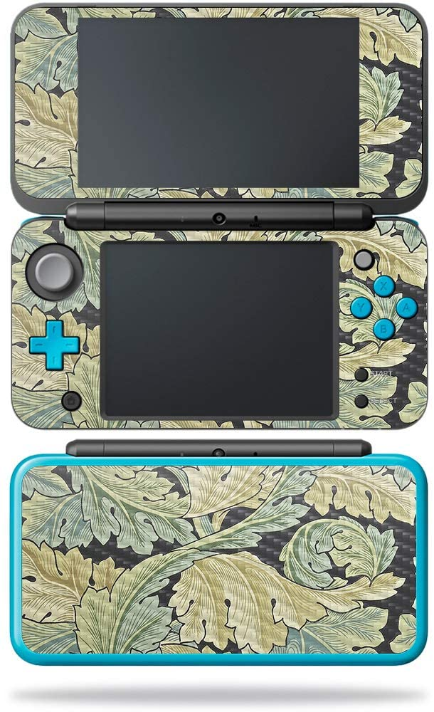 MightySkins Carbon Fiber Skin for Nintendo New 2DS XL - Tree of Life | Protective, Durable Textured Carbon Fiber Finish | Easy to Apply, Remove, and Change Styles | Made in The USA, Acanthus
