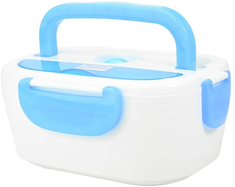 Lunch Box, Electric Heating Lunch Box Portable Food Container Home Office for Home, Office, Travel(Blue)