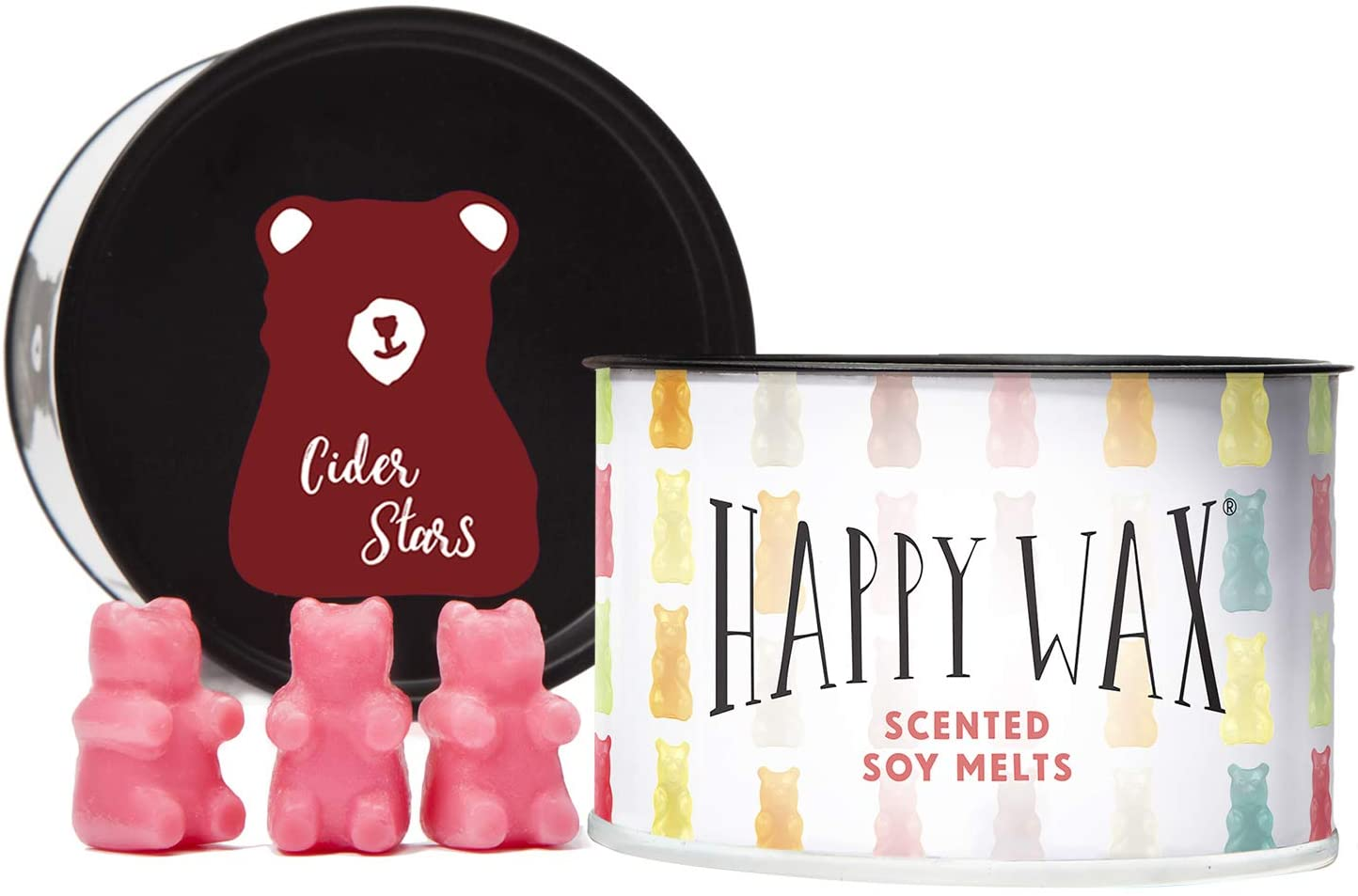 Happy Wax - 3.6 Oz Tin - Apple Cider Stars Wax Melts - Scented Wax Melts Made with All Natural Soy Wax Infused with Essential Oils - Fun Shapes Make The Perfect Christmas Wax melt Gift!