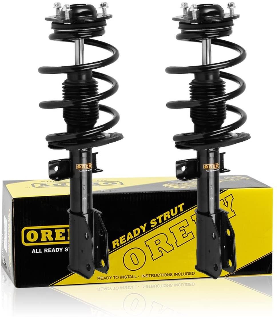 OREDY 2PCS Front Shocks Struts 172518 11680 Complete Struts Assembly Shocks Coil Spring Suspension Struts Kit Compatible with Enclave 08-12 Traverse 09-12 Acadia 07-12 Outlook 07-10 Struts