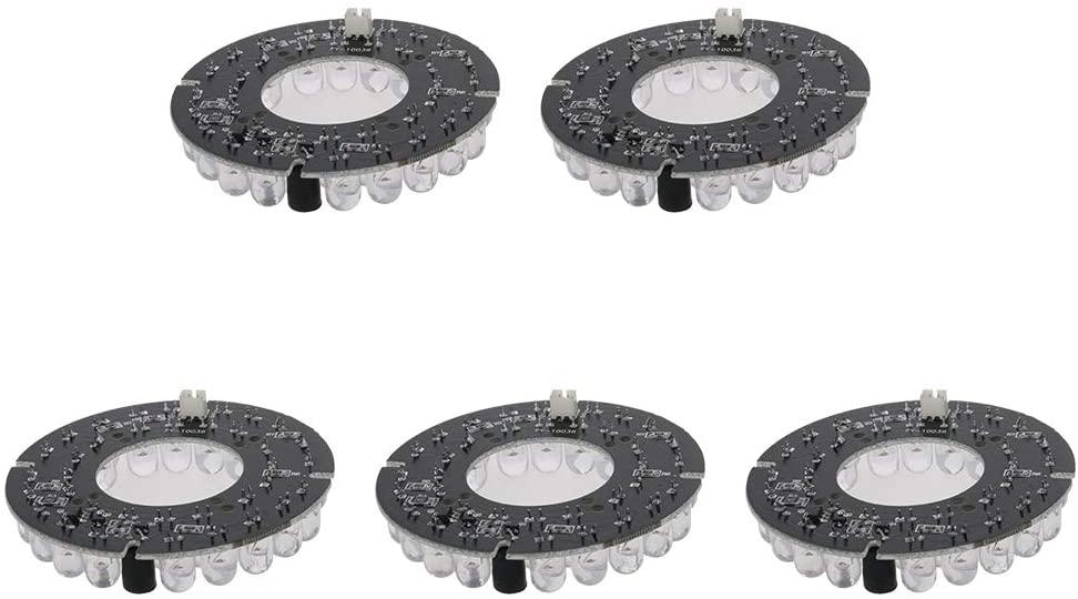 Othmro IR Infrared Illuminator Board 5PCS 45° Round Plate IR Illuminator Board Bulb for CCTV Security Camera 36LEDs
