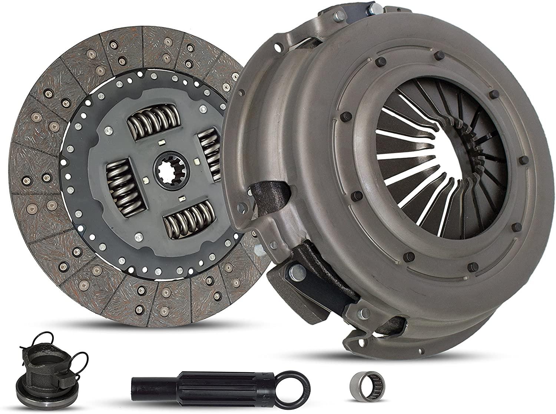 Clutch Kit Works With Dodge Ram 1500-3500 B150 B1500-B3500 Laramie Sport St Base Standard Extended Cab Pickup 1994-2002 3.9L V6 5.2L V8 5.9L V8 GAS OHV Naturally Aspirated