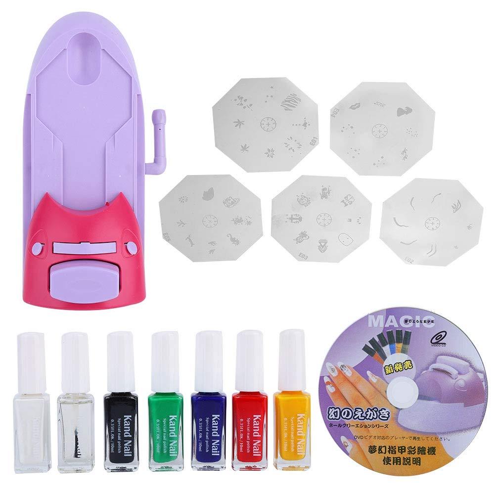 Woyisisi Nail Art Printer DIY Manicure Stamp Plate Drawing Printing Enamel Kit for Nail Design