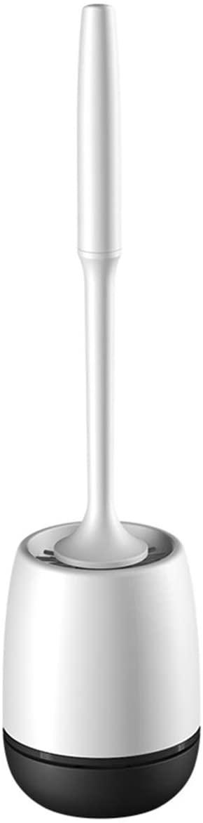 Yuehuam Toilet Brush Holder Set Wall Mounted, Soft TPR Bristles Toilet Brush Base Cleaning Brush Bathroom Set Toilet Brush Stand Toilet Brush Rack (Black Wall Mounted)