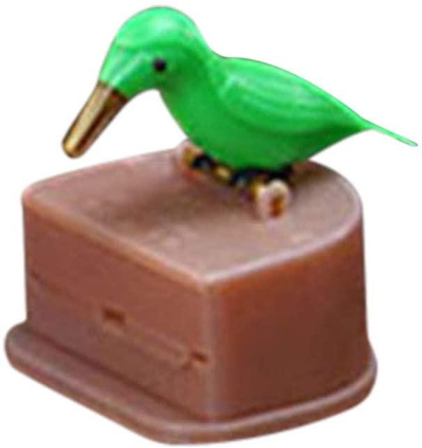 Glumes Bird Toothpick Dispenser Gag Gift Handy Clean Teeth Woodpicker Toothpick Dispenser Plastic Toothpick Dispenser Holder| Home | Housewarming| Kitchen Gift