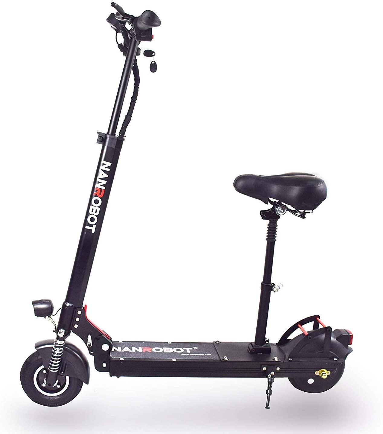 NANROBOT X4 2.0 Light Folding Adult Electric Scooter, 500W Motor, Maximum Speed 20MPH, Durable Range 25 Miles,Net Weight 33 pounds