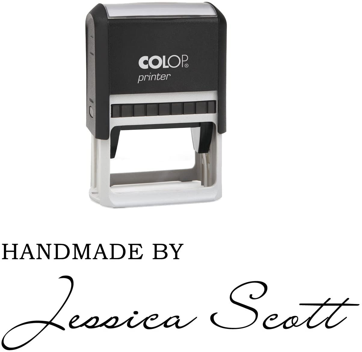 Self Inking Custom Rubber Stamper Signature Font Handmade by Personalized Stamp Gift