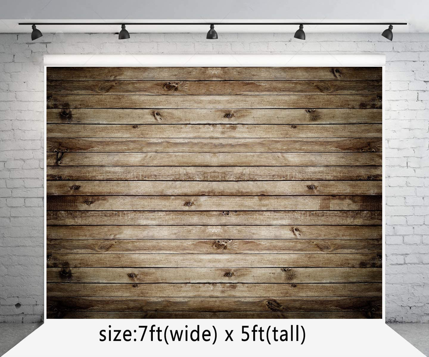 7x5 ft Microfiber Light Brown Wood Wall Backdrops for Photography Bridal Birthday Baby Show Photo Studio Background Booth Prop