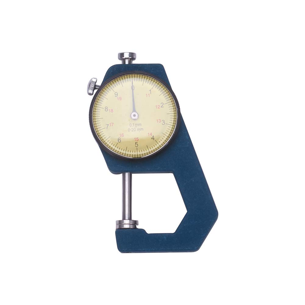 Utoolmart Thickness Gauge, 0-20mm-AL1105 x 0.1mm Precision Accuracy Round Dial Indicator Thickness Gauge 1pcs