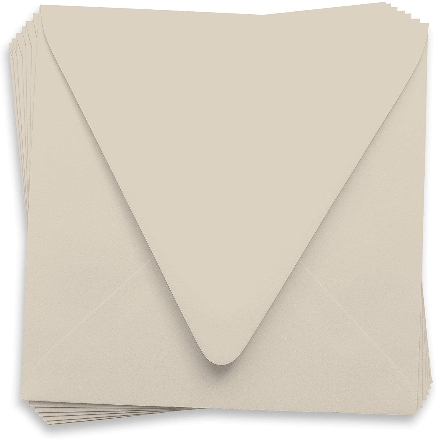 6 1/2 x 6 1/2 Gmund Colors Matt Chardonnay Envelopes - Euro Flap, 81T, 250 Pack