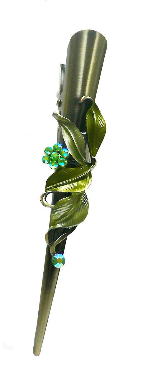 Flower Alligator Clips YY86155-1green