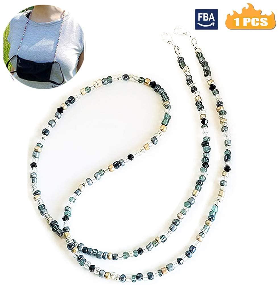 Face Mack Holder Beaded Necklace Strap(28