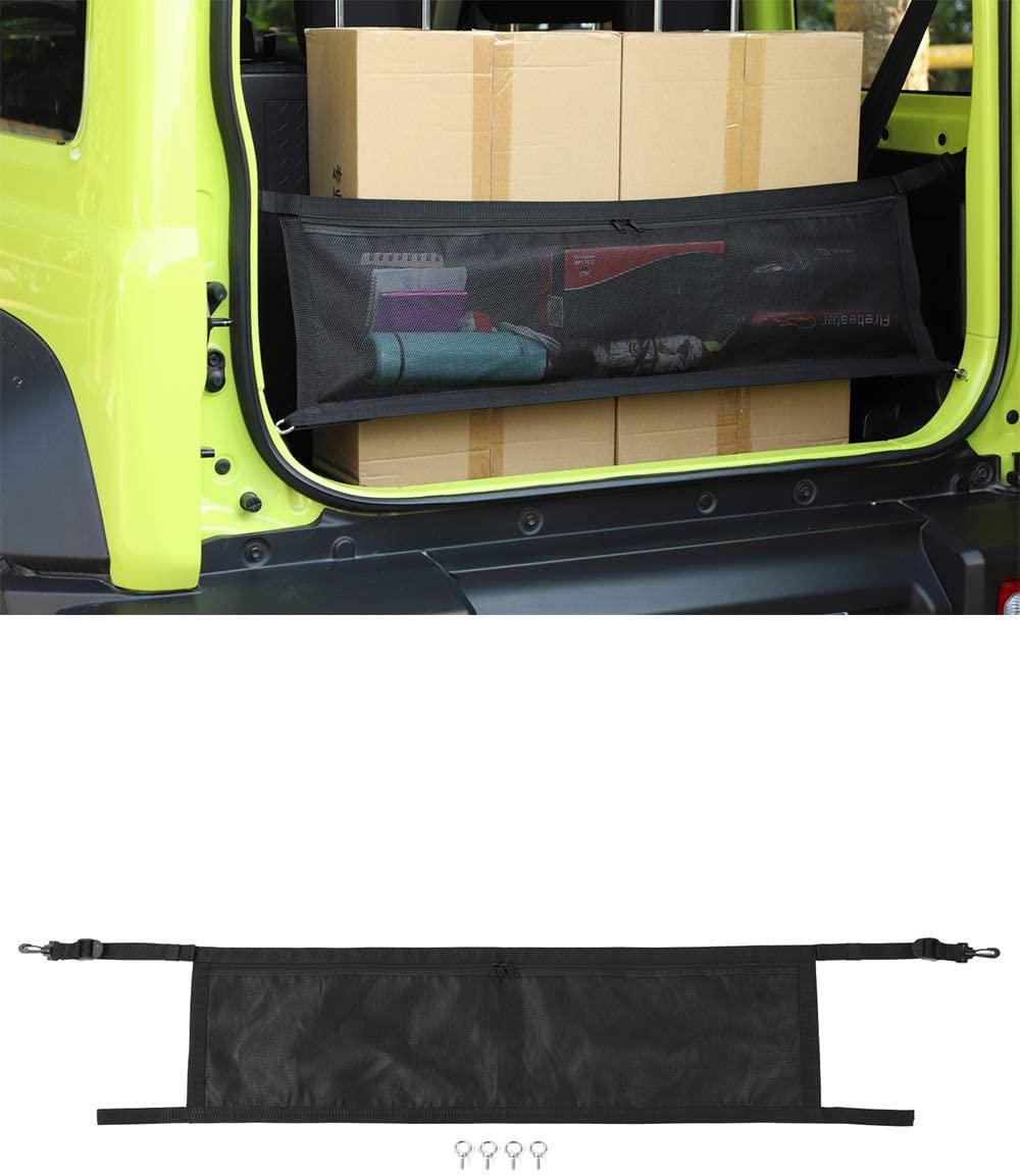 Fscar Car Trunk Cargo Net 1 pcs, fit for 2019-2020 Suzuki Jimny (Black B)