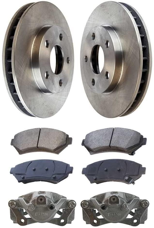 AutoShack BCPKG00018 Front Brake Rotors Calipers and Semi Metallic Pads