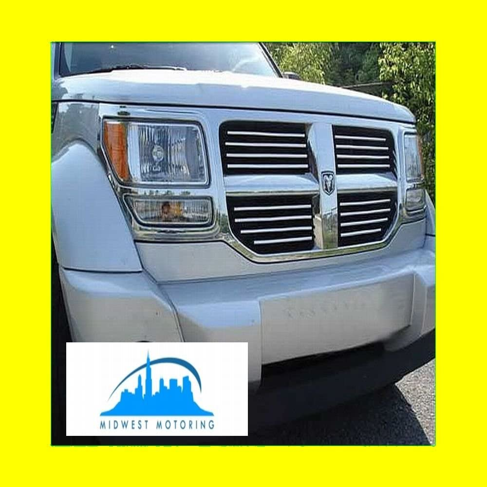 312 Motoring fits 2010-2011 Dodge Nitro Chrome Trim for Grille Grill 10 11