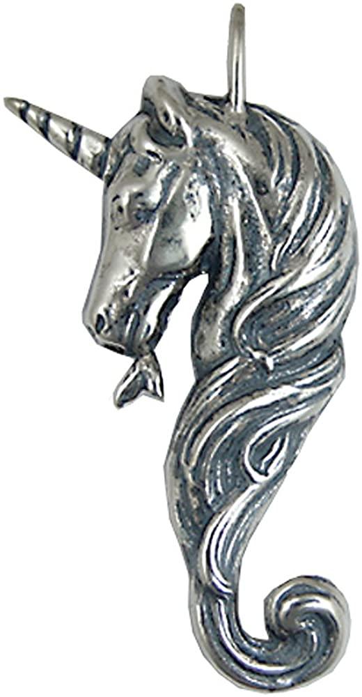 Sterling Silver Unicorn of Beauty Pendant