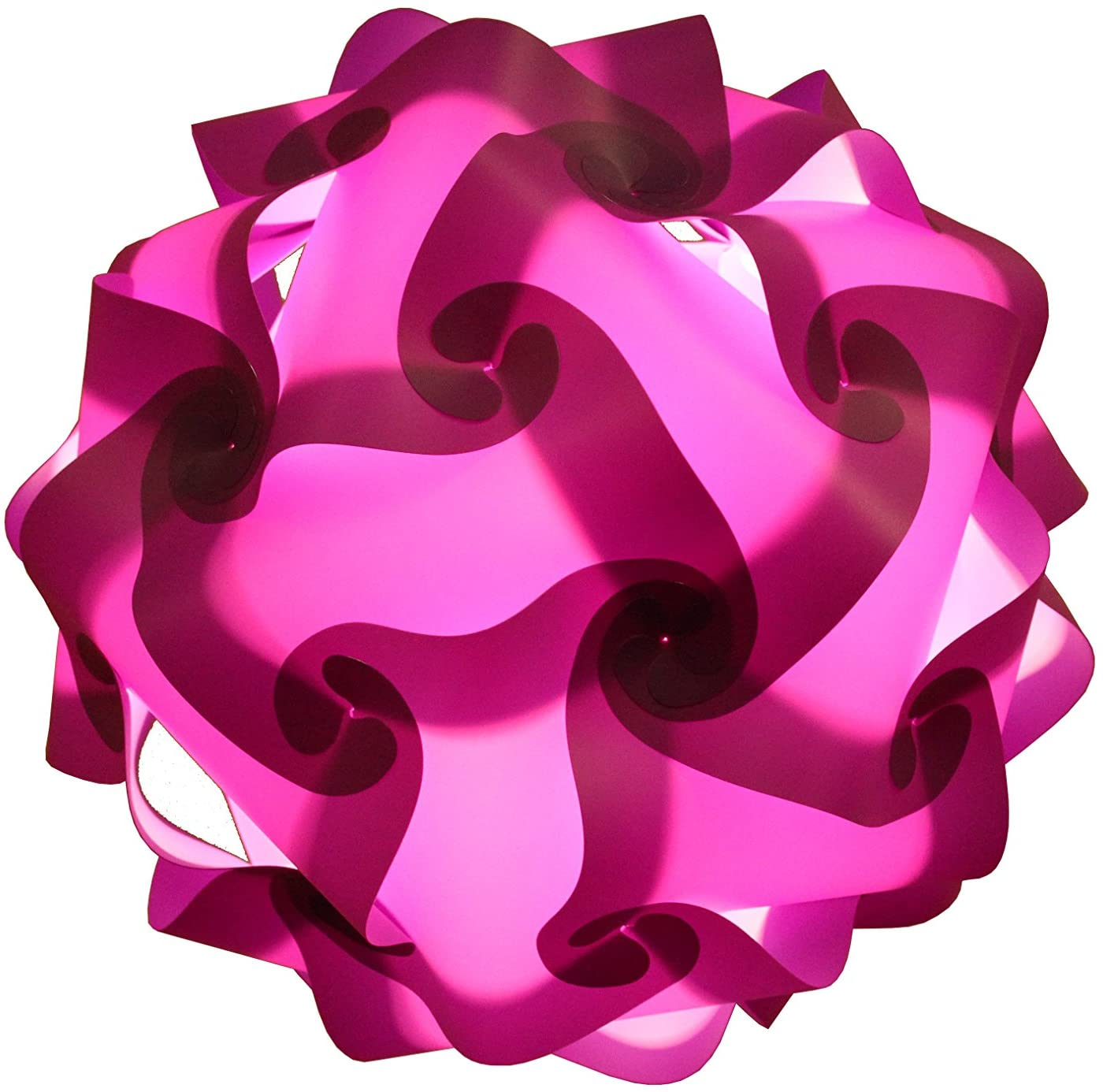 Puzzle IQ Light : Handmade Solid Color Round Shape Ceiling Lamp Cord & Bulb Included Size S (Purple)