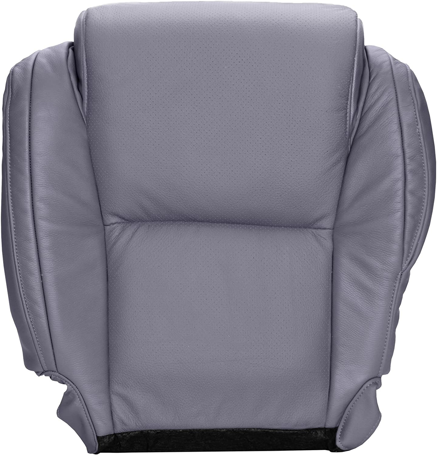 The Seat Shop Driver Bottom Perforated Replacement Seat Cover - Graphite (Gray) Leather with Extra Seam (Compatible with 2007-2013 Tundra Platinum and 2008-2014 Sequoia Platinum)