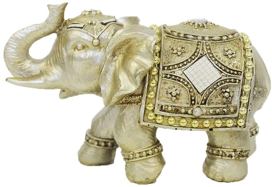 Alirina Thai Elephant with Trunk Raised Collectible Figurines Decor (AF16257)
