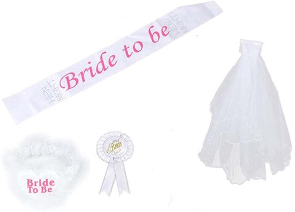 Bride To Be Badge Mantilla Sash Belt Lace Garter Hen Night Party Bachelorette B01