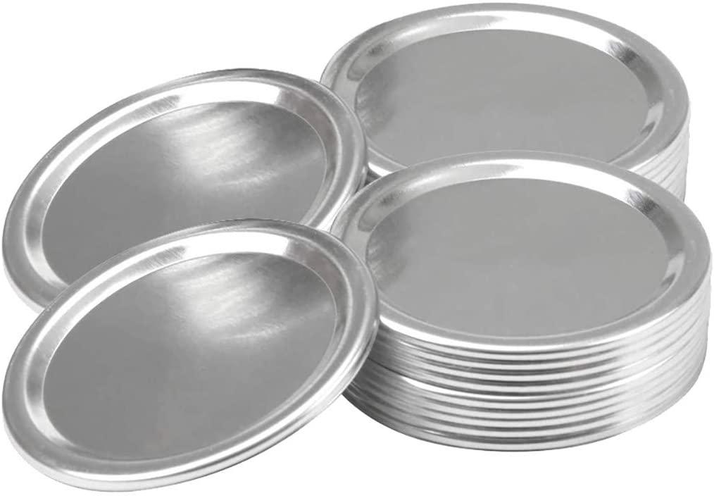 10 Pack 70mm Regular Mouth Mason Jar, Split-Type Lids Seals Rings Mason Storage Solid Caps, Regular Mouth Mason Jar Lids, Lids Leak Proof Secure Mason Canning Jar Caps