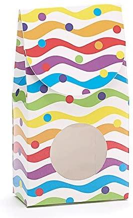 Burton & Burton Bright Waves Dots Paper Candy Box Party Supplies