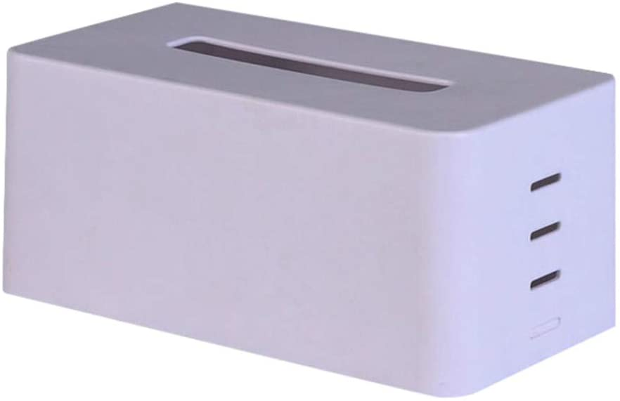 Fashion Tissue Box Cover Plastic Paper Napkin Box Cover Holder Toilet Paper Dispenser for Home and Car Decoration