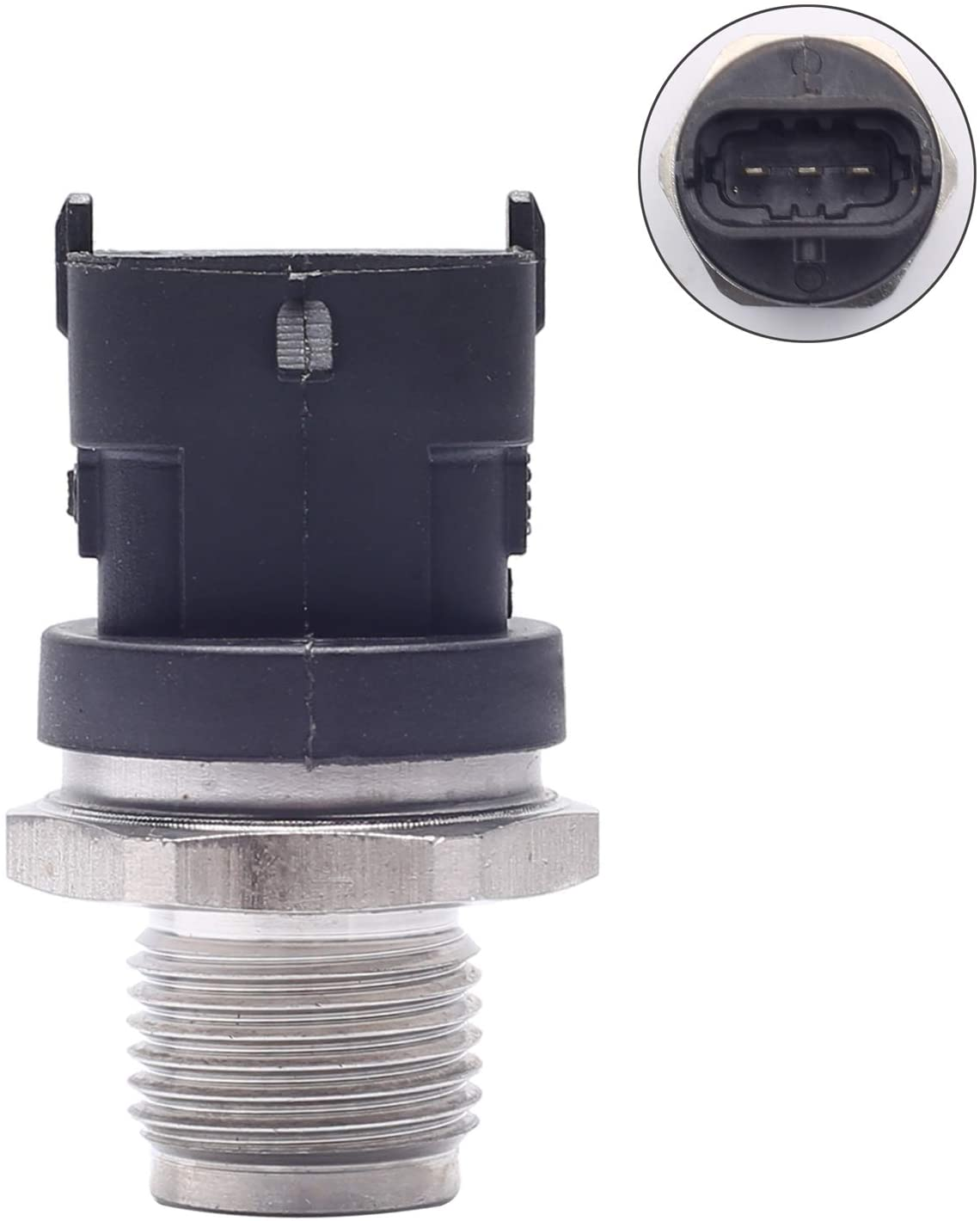 SEEU. AGAIN Fuel Rail Pressure Sensor, Part# 0281002937 Replacement For Dodge 2003-2006 Dodge Ram 3500, 2003-2007 Ram 2500 Cummins Diesel 5.9L - (45962072G,9S519G756AB, 1581708, 04216218,504152959)